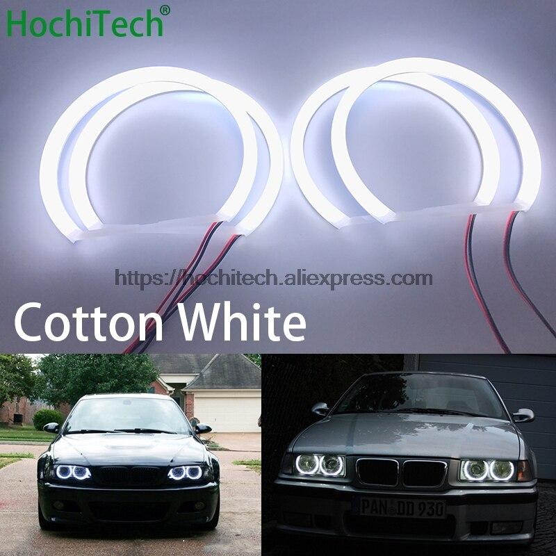 HochiTech pour BMW E36 E38 E39 E46 3 5 7 série phare xénon voiture style lait blanc lumière voiture SMD LED ange yeux Halo anneau Kit