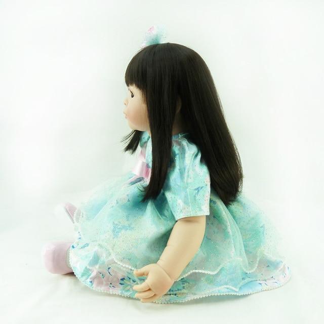 About 20 Silicone Vinyl Reborn Baby Doll toys accompany sleeping girl doll lifelike fashionable soft birthday