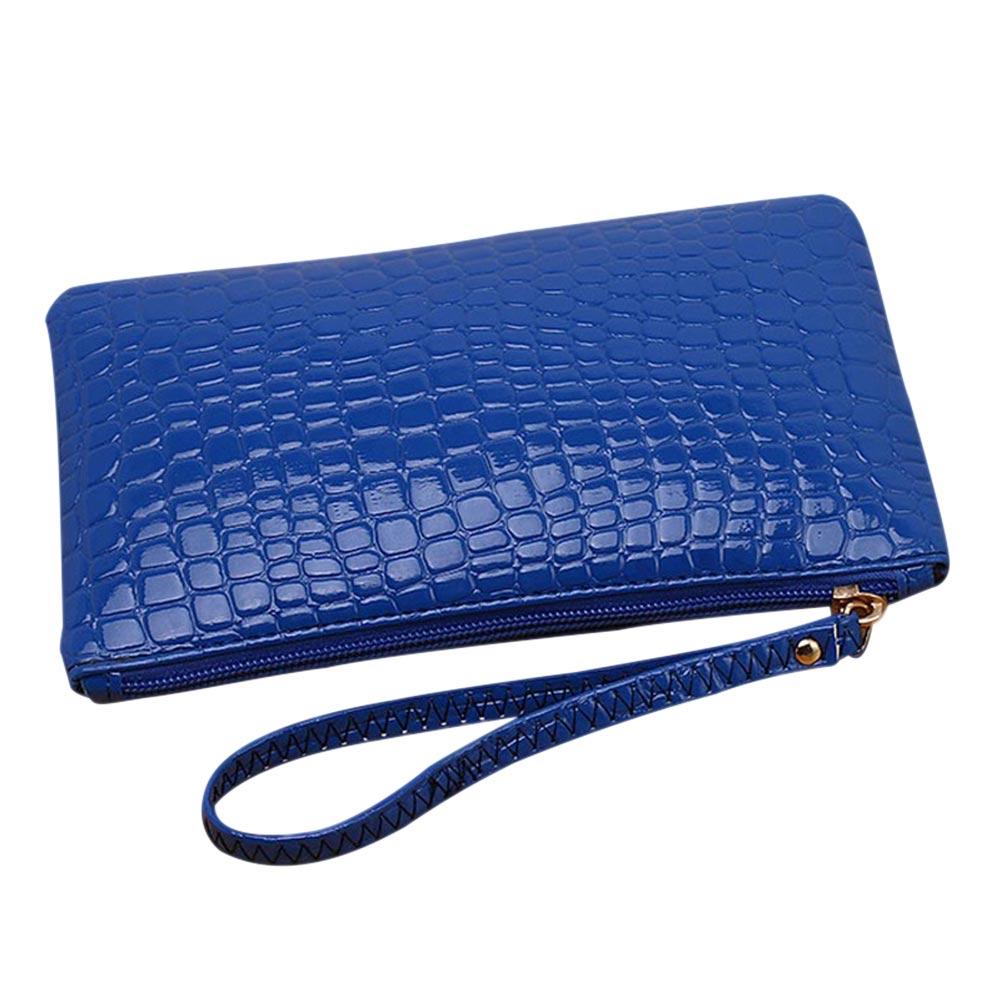 Women PU Leather Wallet Purse Card Phone Holder Makeup Bag Clutch Handbag BS88
