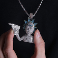 Rick and Morty Iced Out Necklace 3