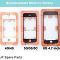 Ремонт Внешний ЖК-Экран Внешний Стеклянный Объектив Ремонт Склейка Пресс-формы для Iphone 4G/4s/5 Г/5C/5S/6 Г 3 Шт./компл. Бесплатная Доставка