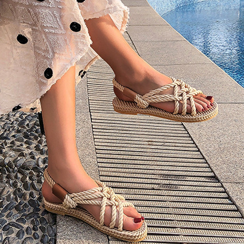 HTB1068ddW5s3KVjSZFNq6AD3FXai - SAGACE Sandals Woman Shoes Braided Rope With Traditional Casual Style And Simple Creativity Fashion Sandals Women Summer Shoes