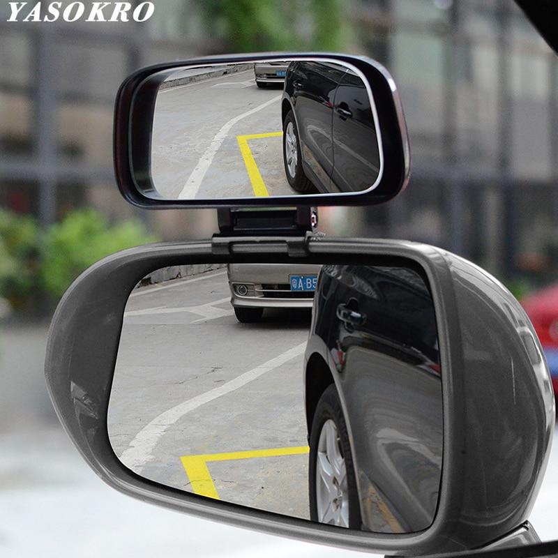 Автомобильное Зеркало для слепых зон YASOKRO, широкоугольное зеркало, регулируемое выпуклое зеркало заднего вида для безопасной парковки, Авт...