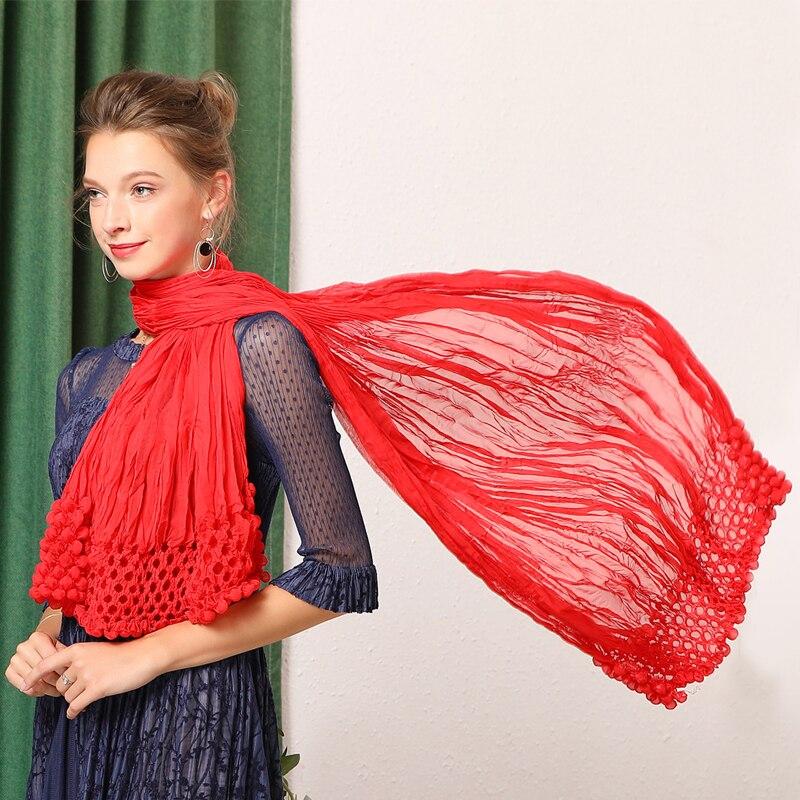Plis foulards châles multi fonction nouveaux tours de magie multi usage crème solaire longue mousseline de soie livraison gratuite