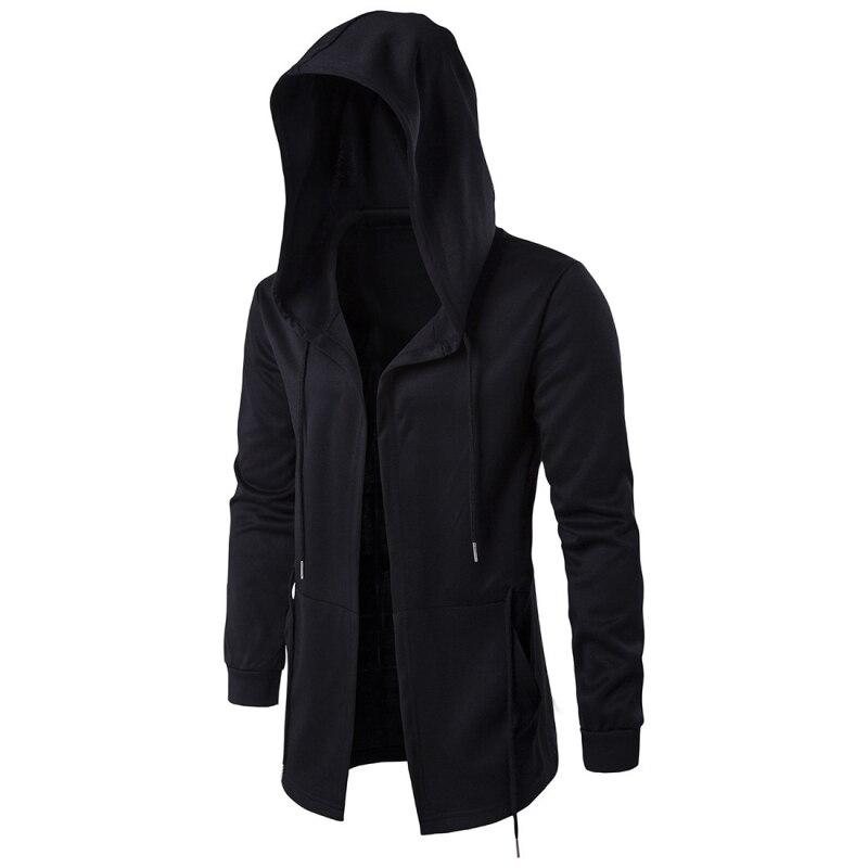 2018 модные Для мужчин пальто с капюшоном в стиле хип-хоп с длинными рукавами пальто с капюшоном Для мужчин Куртки TZY