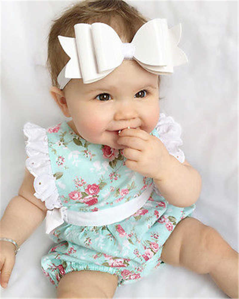 8fb19ff40e9 Baby Bodysuits Kids Baby Girl Summer Clothes Lace Floral Cotton Bodysuit  Jumpsuit Outfits