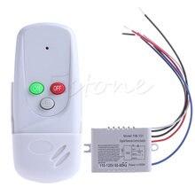 Bezprzewodowy 1Way światła lampa zdalnie sterowana włączyć/OFF 110 V Anti-zakłóceń L057 nowy gorący