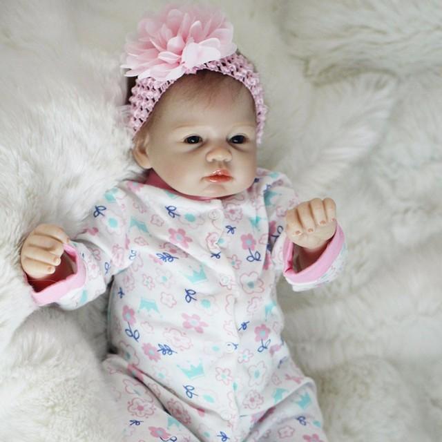 OtardDolls Boneca Reborn 22inch Soft Silicone Vinyl Doll 55cm Soft Silicone Reborn Baby Doll Newborn Lifelike Bebe Reborn Dolls