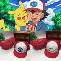 Wholesale ash ketchum hat 2016 new Pokemon Ash hat hip hop baseball cap embroidered children's cartoon bone snapback