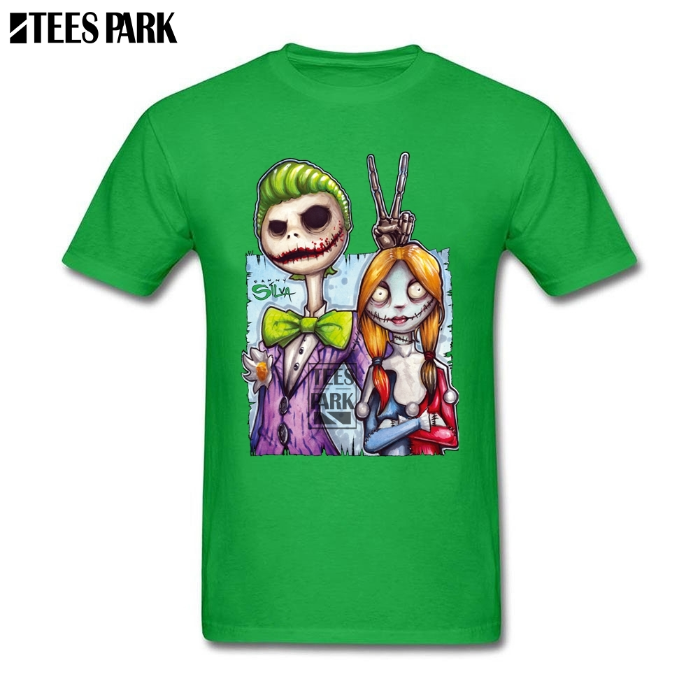 Nightmare Before Christmas Jack Skellington Sally Joker Funny Tee ...