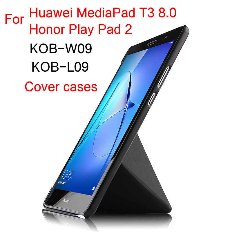 "Case For Huawei MediaPad T3 8.0 KOB-L09 W09 Tablet Protective Cover Stand Leather Case For Honor Play Pad 2 KOB-W09 L09 8""Covers"