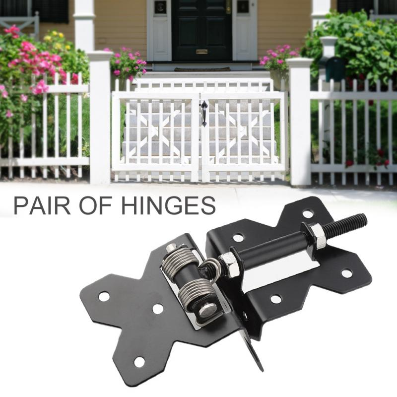 1 Pair Carbon Steel Fence Door Hinge Heavy Duty Hinges For Fence Garden Gate  PVC Vinyl Door Hardware Set In Door Hinges From Home Improvement On ...