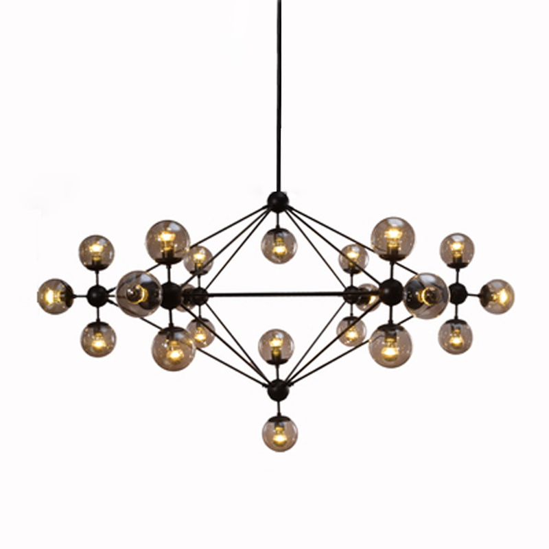 Post-modern LED chandelier metal glass modern shop vintage bar europe living room indoor lamp ceiling decoreted light fixture цены онлайн