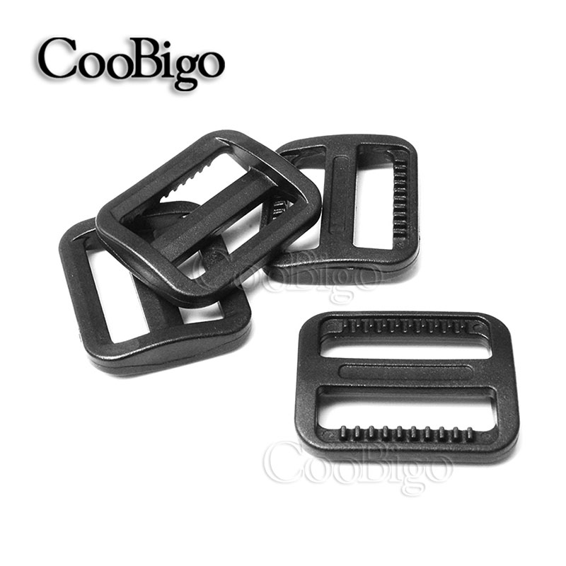25mm 1000pcs Pick Color 1 plastic Tri-glides Slider Adjustable Buckle Backpack Webbing Moll Tactical Bag Parts