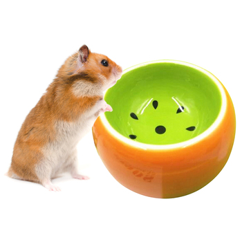 1Pc Creative Cute Fruit Pattern Bowl Small Pet Ceramic Bowls Water Food Bowl For Hamster Chinchilla Rabbit Pet Feeding Supplies 1