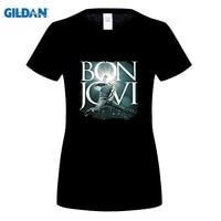 GILDAN Women Fashion Brand T Shirt Women S Bon Jovi The Circle Tour T Shirt