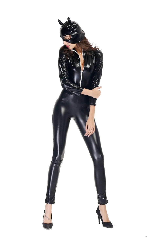 Vinyl cat woman costume