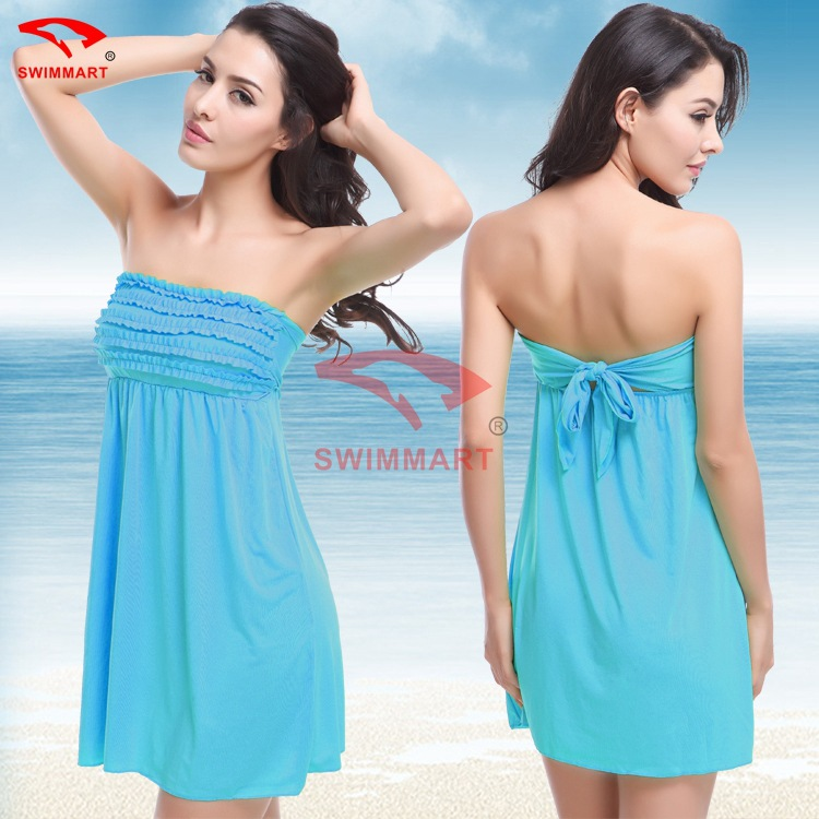 594501b29863c Aliexpress.com : Buy Summer Women Beach Skirt Sarong Cover Up Ruffles Petal  Sexy Strapless Beach Dress Tunic Swimwear Bathing Suit Swimsuit Beachwear  from ...