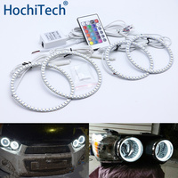 For Chevrolet AVEO Sonic T300 2011 2012 2013 2014 Multi color Led Angel Eyes Kit RGB Halo Rings Daytime Running Light DRL