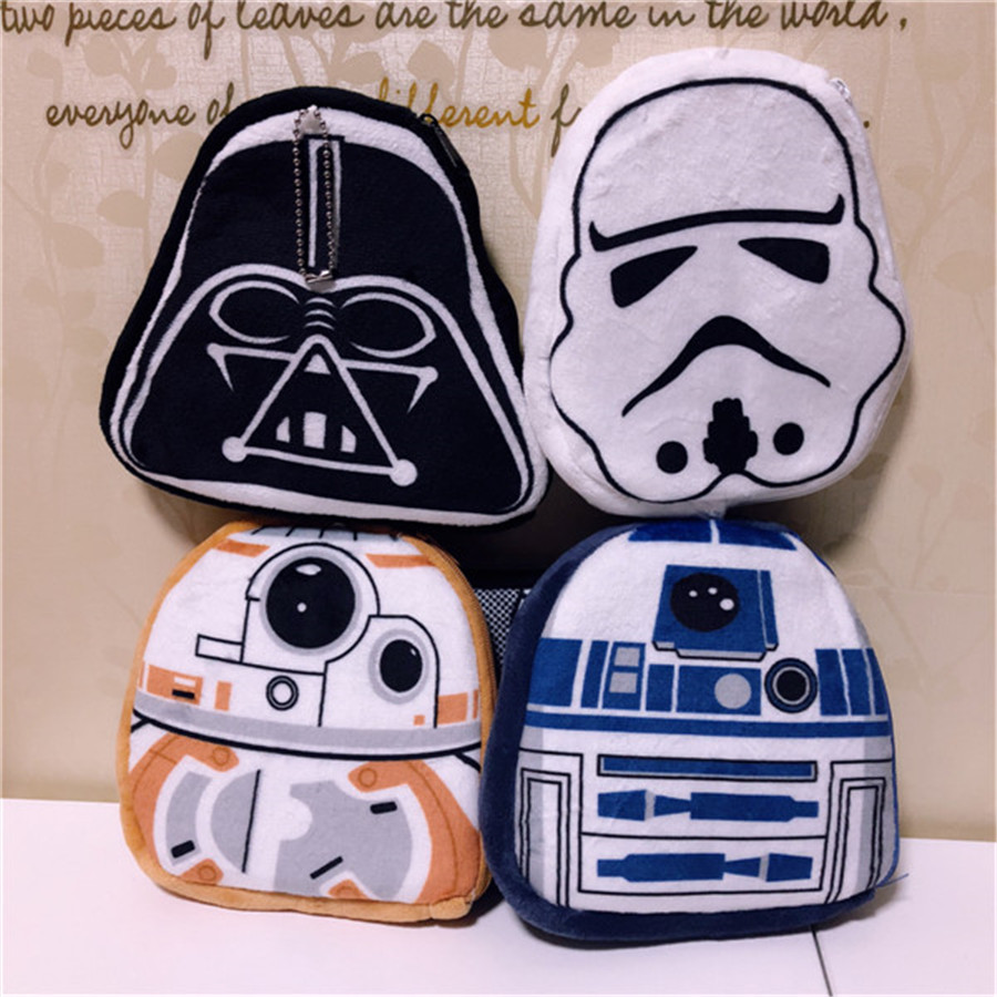 48763ff1ce4 48pcs lot 16cm Star Wars Cute Plush Coin Bag with Zipper Darth Vader  Stormtrooper R2. US  111.35. Star Wars 7 BB8 plush toys ...