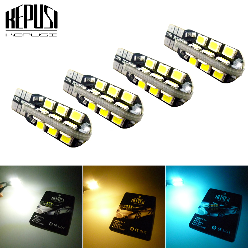4X T10 LED Car Light Canbus 194 W5W Auto LED Bulbs Car Styling White Blue For Nissan Patrol Versa Qashqai Sylphy Livina Teana in Signal Lamp from Automobiles Motorcycles