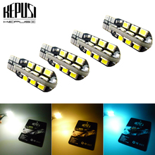 4X T10 LED Car Light Canbus 194 W5W Auto Bulbs Styling White Blue For Nissan Patrol Versa Qashqai Sylphy Livina Teana