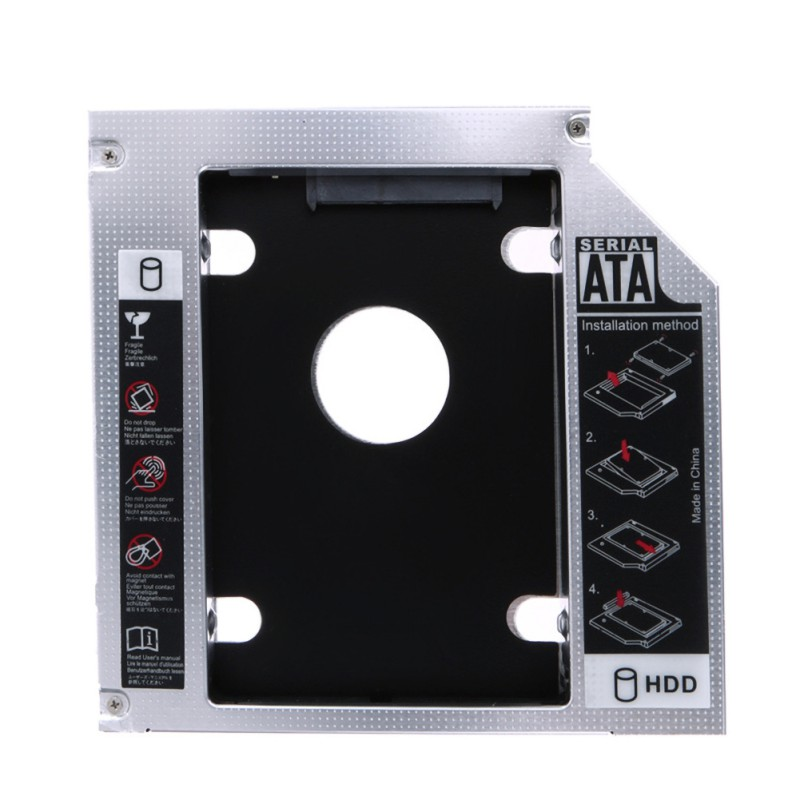 12.7mm Aluminum Optibay SATA 3.0 Hard Disk Drive Box Enclosure DVD Adapter 2.5 SSD 2TB For Laptop CD-ROM(China)