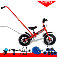 High Quality CHESTAR 12 Inch Baby Balance Bike With Handle Brake Steel Frame And EVA Wheel
