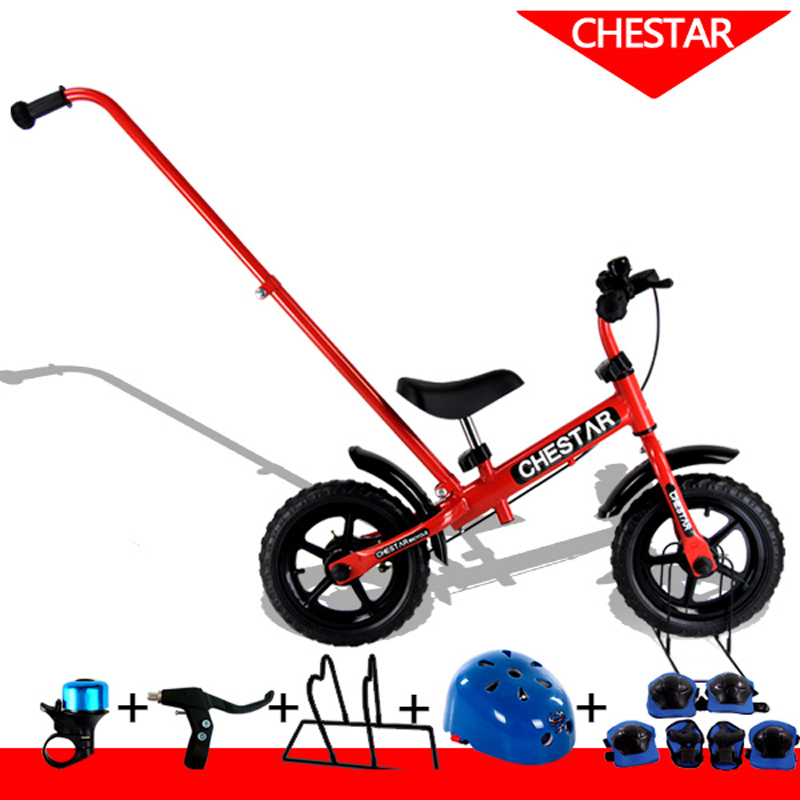 High Quality 12 Inch Baby Balance Bike With Push Handle