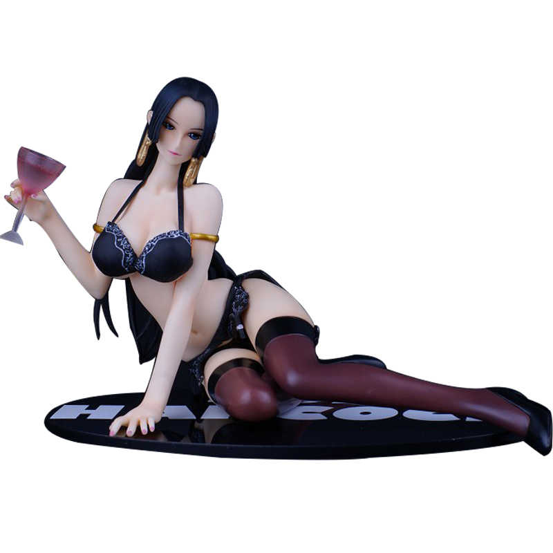 все цены на  11cm One Piece Pirate Empress Boa Hancock Bikini Underwear Bosomy Lingerie Sitting Stocking Temptation Sexy Woman Action Figure  онлайн