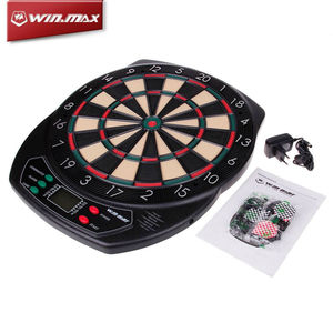 Image 2 - WINMAX ไฟฟ้า LED Dartboard จอแสดงผลกระดานคะแนน Professional Electronic DART BOARD 6 Soft TIP ด้วยเสียง
