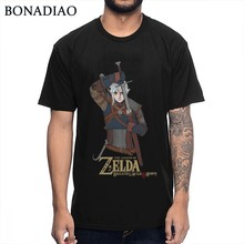 Novelty Link Legend Of Zelda Men Breath Of The Wild Hunt T Shirt Classic Game Homme Tee Shirt Cotton S-6XL Wholesale(China)