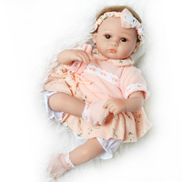 45cm Full Silicone Body Reborn Baby Doll Toy Adorable Lifelike Toddler bebes reborn corpo de silicone inteiro realista