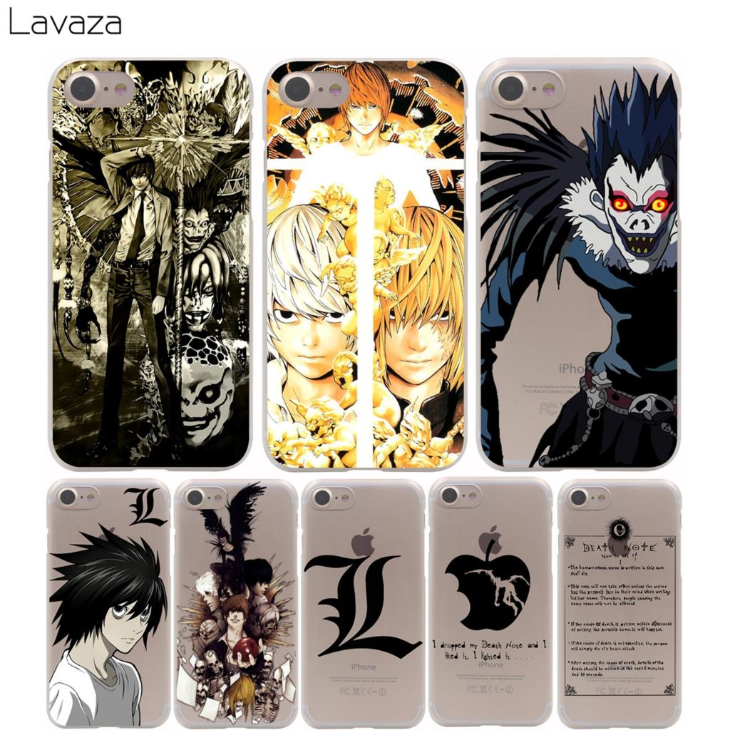 Lavaza Death Note Cover Case for iPhone X 10 8 7 Plus 6 6S Plus 5 5S SE 5C 4 4S Cases