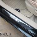 Freeship chorme espelho decorativo LED azul porta sills limiares para Toyota Corolla 2014 2015 car styling acessórios auto