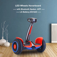 New 10 Inch LED Wheels Hoverboard Electric Scooter Gyroscope With Bluetooth Speaker And APP