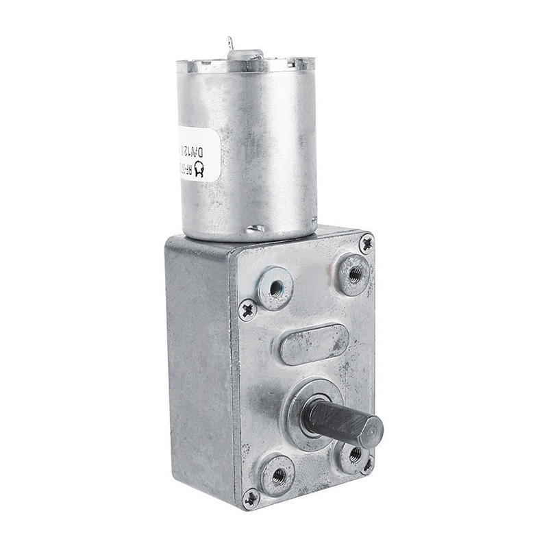 Mayitr Micro Gear Reduction Motor 12V DC Worm Reversible High Torque Turbo Electric Geared Motor 2/3/5/6/10/20 /30/62/100 RPM
