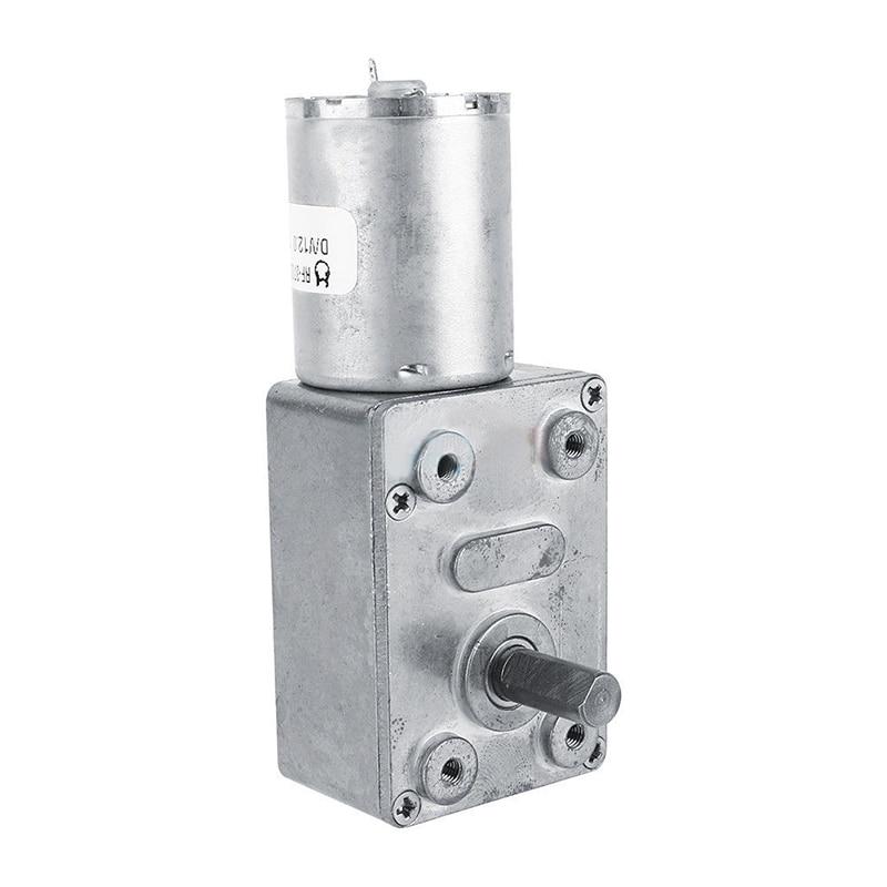Mayitr Micro Redução de Engrenagem Do Motor 12 V DC Reversível Alto Torque Turbo Verme Voltada Motor Elétrico 2/3/5/6/10/20/30/62/100 RPM