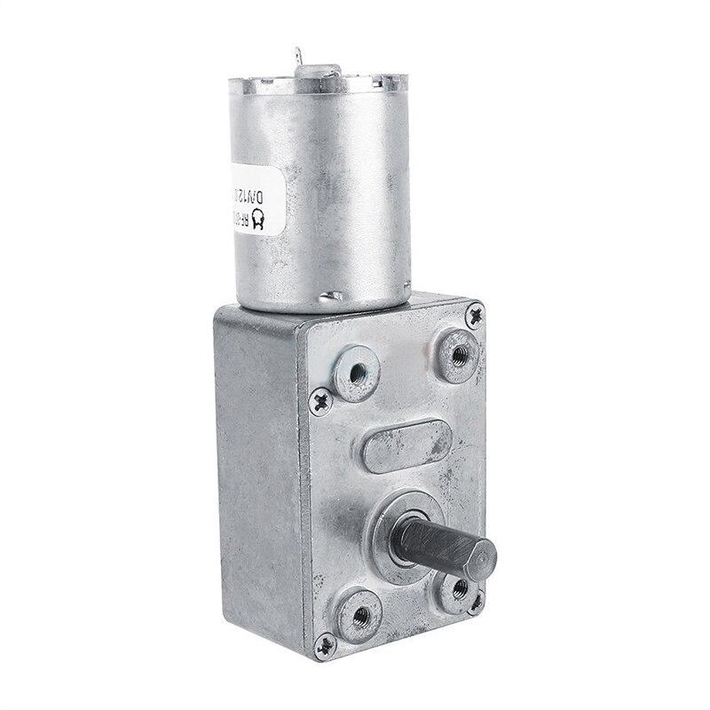 Motor de reducción de engranaje Micro Mayitr 12 V DC gusano Reversible de alto par Turbo motorreductor eléctrico 2 3/5/6/10/20/30/62 RPM 100