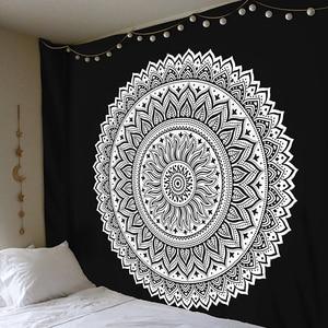 Большой 200x150 см Мандала индийский гобелен настенный богемный пляжный коврик полиэстер одеяло йога коврик для дома Спальня художественный ковер