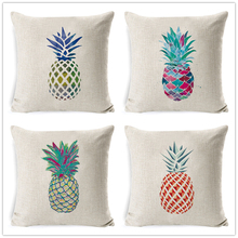 цены на Fokusent Pineapple Nordic Cushion Cover Tropic Pineapple Throw Pillow Cover Polyester Cushion Case Sofa Bed Decorative Pillow  в интернет-магазинах