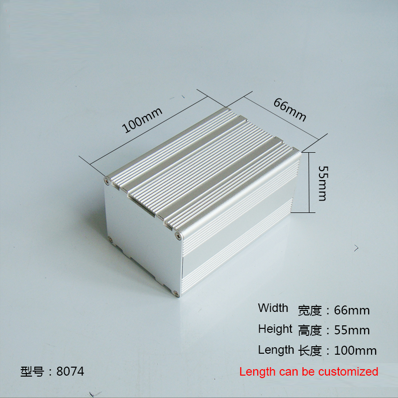 1 piece aluminum housing case for electronics project case 55(H)x66(W)x100(L) mm 8074 1 piece free shipping small aluminium project box enclosures for electronics case housing 12 2x63mm