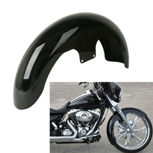 Motorcycle Motorbike Painted Black 23 Wrap Front Fender For Harley Touring Electra Street Road Glide King FLHX FLTR FLHT FLHR new deep cut billet cnc gear motorbike black shifter shift linkage for harley touring flht fltr flst fltc undefined