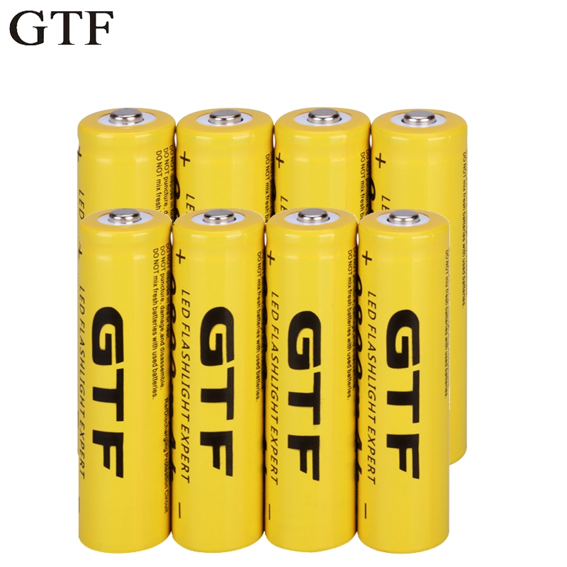 GTF 18650 3.7V 9800mAh Li-ion battery Rechargeable Lithium ion Batteries for flashlight headlamp electronic toy drop shipping(China)