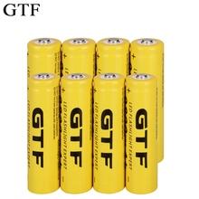 GTF 18650 3 7V 9800mAh akumulator litowo-jonowy akumulator litowo-jonowy do latarki czołówka elektroniczna zabawka drop shipping tanie tanio Li-ion Baterie Tylko Pakiet 1 1 2 4 6 8 10 20