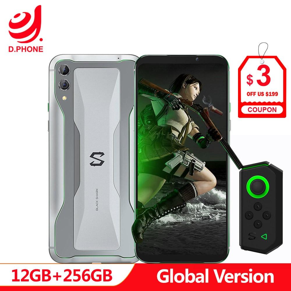 Version originale globale Xiaomi noir requin 2 12 GB 256 GB téléphone de jeu Snapdragon 855 Octa Core 6.39 AMOLED FHD + écran 48MP