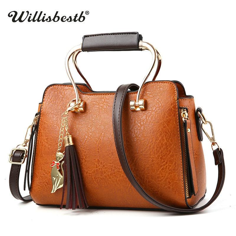 Hot Sale Women Tassel Handbag Casual Totes Woman Handbags High Quality Famous Brand Lady Shoulder Bags