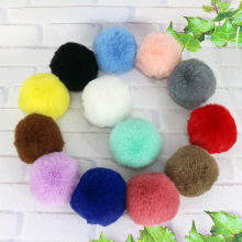50pcs/lot DIY 6cm Faux Rabbit Fur Pom Ball for Women Earrings Shoes Handbag Key chain 8 Colors Accessories Wholesale