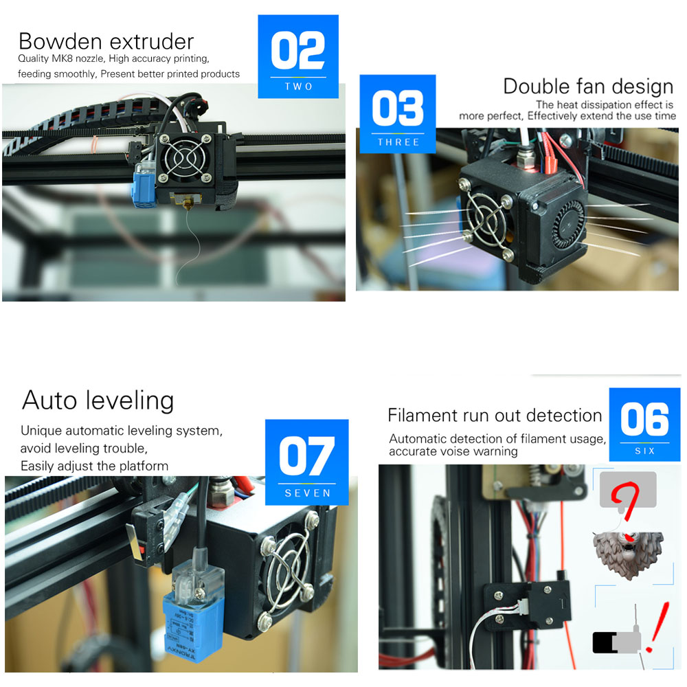 2019 Newest design Tronxy High Precision X5SA with touch screen Auto level  DIY 3d Printer kit Full metal Large printing size