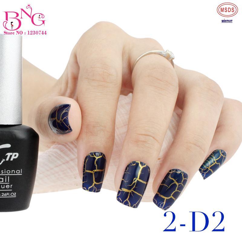 2pcs/set New #2 Trendy Crackle Style Nail Art Polish Gel UV LED ...